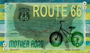 Route 66 Mother Road Wholesale Novelty Metal Magnet M-11571