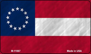 First Confederate Flag 13 Stars Wholesale Novelty Metal Magnet M-11697