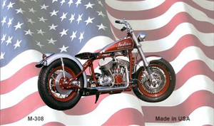 Indian Motorcycle American Flag Wholesale Novelty Metal Magnet M-308