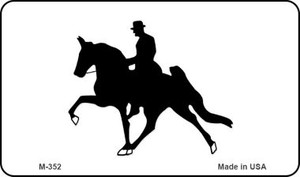 Horse With Rider Wholesale Novelty Metal Magnet M-352