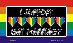Support Gay Marriage Wholesale Novelty Metal Magnet