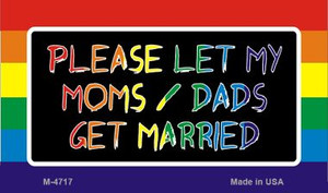 Get Married Rainbow Wholesale Novelty Metal Magnet