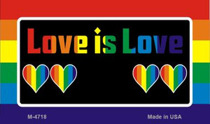 Love Is Love  Wholesale Novelty Metal Magnet