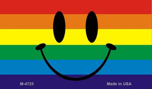 Smiley Face Rainbow Wholesale Novelty Metal Magnet