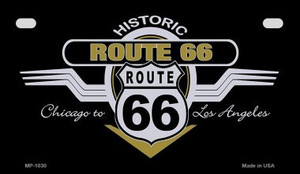 RT 66 Wing Wholesale Novelty Metal Motorcycle Plate