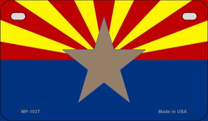 AZ Big Star State Flag Wholesale Novelty Metal Motorcycle Plate MP-1037