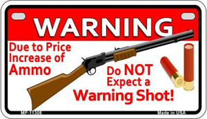 Do Not Expect A Warning Shot Wholesale Novelty Metal Motorcycle Plate MP-11308