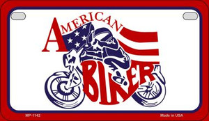 American Biker Wholesale Novelty Metal Motorcycle Plate MP-1142