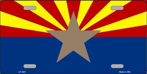 Arizona Big Star State Flag Novelty Wholesale Metal License Plate