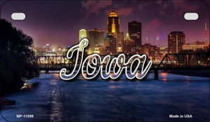 Iowa Bridge City Lights Wholesale Novelty Metal Motorcycle Plate MP-11599