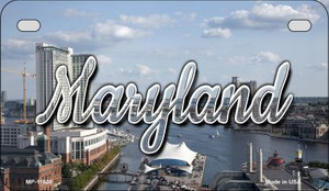 Maryland River Skyline Wholesale Novelty Metal Motorcycle Plate MP-11605