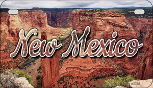 New Mexico Red Canyon Wholesale Novelty Metal Motorcycle Plate MP-11617
