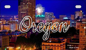Oregon Firework City Lights Wholesale Novelty Metal Motorcycle Plate MP-11625