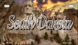 South Dakota Mt Rushmore Wholesale Novelty Metal Motorcycle Plate MP-11630