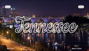 Tennessee Bridge Lights Wholesale Novelty Metal Motorcycle Plate MP-11631