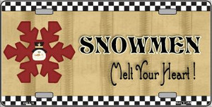 Snowflake Snowmen Melt Your Heart Wholesale Metal Novelty License Plate XMAS-18