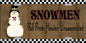 Snowmen Fall From Heaven Wholesale Metal Novelty License Plate XMAS-24