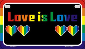 Love Is Love  Wholesale Novelty Metal Motorcycle Plate MP-4718