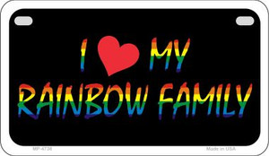 Rainbow Family  Wholesale Novelty Metal Motorcycle Plate MP-4738