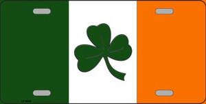 Shamrock Irish Flag Wholesale Metal Novelty License Plate LP-6885
