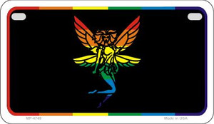 Fairy Rainbow Wholesale Novelty Metal Motorcycle Plate MP-4749