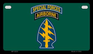 Special Forces Wholesale Novelty Metal Motorcycle Plate MP-5223