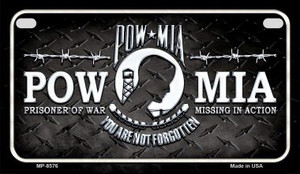 POW MIA Wholesale Novelty Metal Motorcycle Plate MP-8576