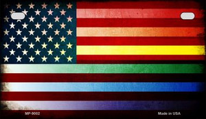 American Flag Rainbow Wholesale Novelty Metal Motorcycle Plate MP-9002