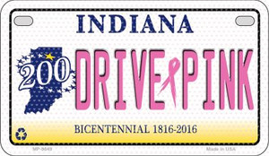 Drive Pink Indiana Wholesale Novelty Metal Motorcycle Plate MP-9649