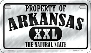 Property Of Arkansas Wholesale Novelty Metal Motorcycle Plate MP-9745