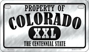 Property Of Colorado Wholesale Novelty Metal Motorcycle Plate MP-9747