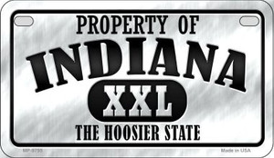 Property Of Indiana Wholesale Novelty Metal Motorcycle Plate MP-9755