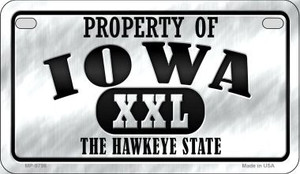 Property Of Iowa Wholesale Novelty Metal Motorcycle Plate MP-9756