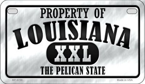 Property Of Louisiana Wholesale Novelty Metal Motorcycle Plate MP-9759