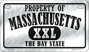 Property Of Massachusetts Wholesale Novelty Metal Motorcycle Plate MP-9762