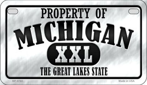 Property Of Michigan Wholesale Novelty Metal Motorcycle Plate MP-9763