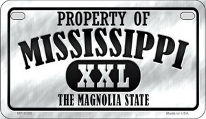 Property Of Mississippi Wholesale Novelty Metal Motorcycle Plate MP-9765