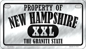 Property Of New Hampshire Wholesale Novelty Metal Motorcycle Plate MP-9770