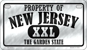 Property Of New Jersey Wholesale Novelty Metal Motorcycle Plate MP-9771