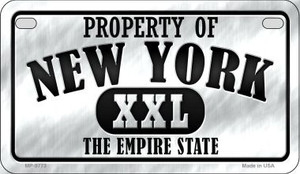 Property Of New York Wholesale Novelty Metal Motorcycle Plate MP-9773