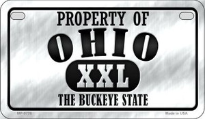 Property Of Ohio Wholesale Novelty Metal Motorcycle Plate MP-9776