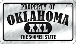 Property Of Oklahoma Wholesale Novelty Metal Motorcycle Plate MP-9777