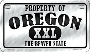 Property Of Oregon Wholesale Novelty Metal Motorcycle Plate MP-9778