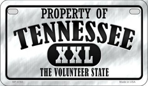 Property Of Tennessee Wholesale Novelty Metal Motorcycle Plate MP-9783