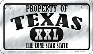 Property Of Texas Wholesale Novelty Metal Motorcycle Plate MP-9784