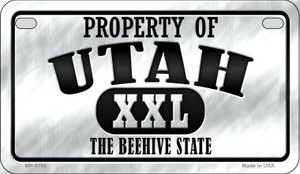 Property Of Utah Wholesale Novelty Metal Motorcycle Plate MP-9785