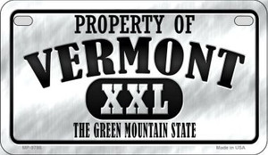 Property Of Vermont Wholesale Novelty Metal Motorcycle Plate MP-9786