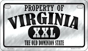 Property Of Virginia Wholesale Novelty Metal Motorcycle Plate MP-9787