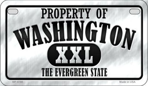 Property Of Washington Wholesale Novelty Metal Motorcycle Plate MP-9788