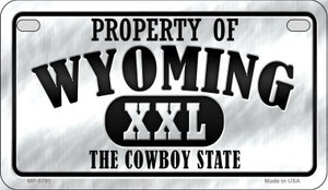 Property Of Wyoming Wholesale Novelty Metal Motorcycle Plate MP-9791